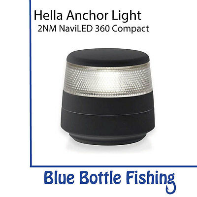 Hella 2 NM NaviLED 360 Compact All Round White Anchor Light- Black Surround