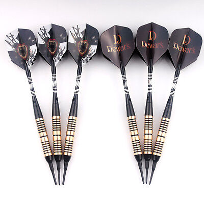 9x Soft Tip Darts Plastic Tips Point for Electronic Dartboard Safety Dart
