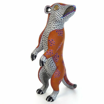 MEERKAT Oaxaca Alebrije Wood Carving Handcrafted Fine Mexican Folk Art Sculpture