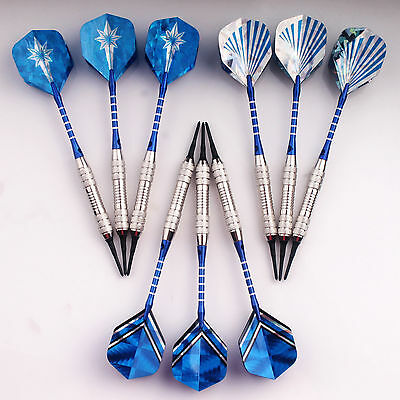 9 pcs of Plastic Soft Tip Darts Medium Weight 19g for Electronic Dartboard