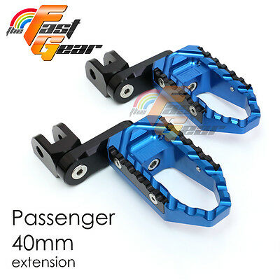 Multi Step Blue 40mm Tour Rear Foot Pegs Fit Yamaha YZF R1 00-10 11 12 13
