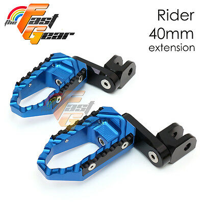 Multi Step Blue 40mm Tour Front Foot Pegs Fit Yamaha TZR 250 87 88 89 90