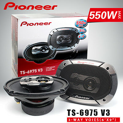 Pioneer TS-6975 V3 3 way 550 watts 6x9 Champion series car speaker