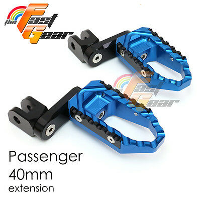Multi Step Blue 40mm Tour Rear Foot Pegs Fit Buell S1 Lightning All year