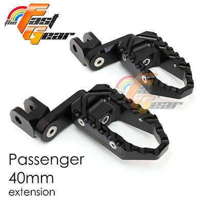 Multi Step Black 40mm Tour Rear Foot Pegs Fit Ducati Monster 800 ie All year