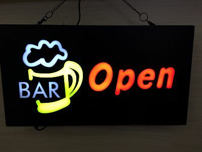 Beautiful LED BAR OPEN BEER MUG Bright Neon Sign for Business and Shop