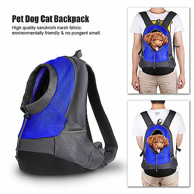 Pet Dog Cat Backpack Travel Carrier Front Bag Chihuahua with Dual Shoulder Strap