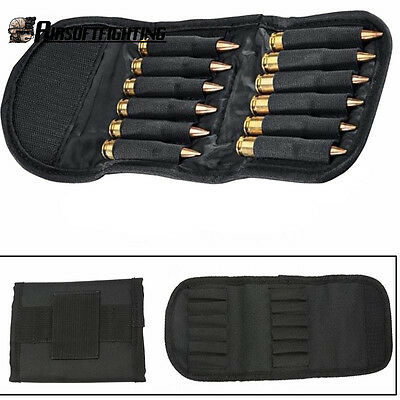 Hunting Rifle Cartridge Padded Holder Carrier 12 Round Ammo Bag for 410 .22 .308