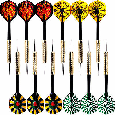12 pcs (4 sets) of Steel Needle Tip Darts Popular Dart Flights