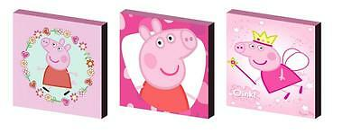 Peppa Pig Pink Canvas  Art Blocks/ Wall Art Plaques/pictures