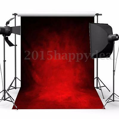 5x7ft Christmas Abstract Retro Red Photography Backdrop Studio Background Props