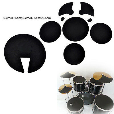 Popular Bass Snare Drum Off Quiet Drums Mute Silencer Drumming Practice Pad Set
