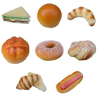Simulation Fake Bread Food Kids Pretend Play Toy Kitchen Bakery Display Sample
