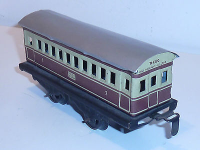 ancien TRAIN Karl Bub K1220 K-1220 FRANCE vintage WAGON en METAL germany US ZONE