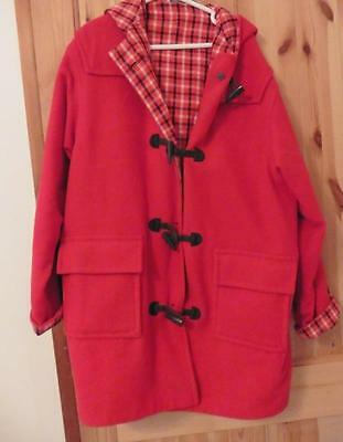 11-12-13-14-15-16y M&S girls smart red winter duffle coat & hood runs large