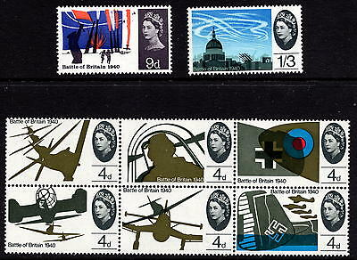 GB 1965 Battle of Britain Ordinary SG671 - 8 Complete Set Unmounted Mint