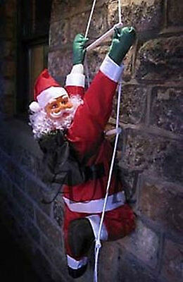 CLIMBING SANTA WITH ROPE LADDER! 0.9M (3ft) INDOOR/ OUTDOOR CHRISTMAS DECORATION