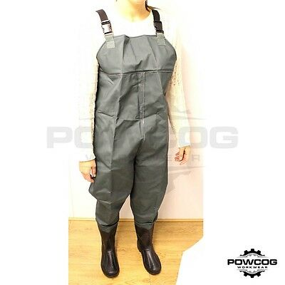 Premium Waterproof Nylon PVC CHEST WADERS Boot Size 8 9 10 11 | Fly Sea Fishing
