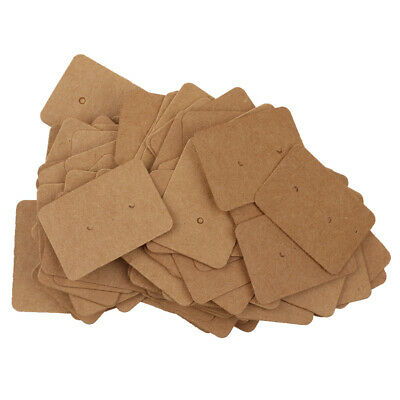 100pcs Kraft Paper Brown Earrings Display Cards  Tags Labels Crafts