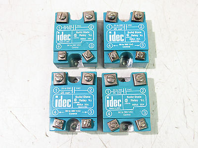 Idec Rssa 25A Solid State Relay 24-330Vac 90-280Cac (Lot Of 4) ***xlnt***