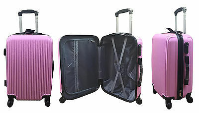 "20"" 24"" 28"" Hard Shell Suitcase Set 4 Wheel Luggage Spinner Lightweight - PINK"