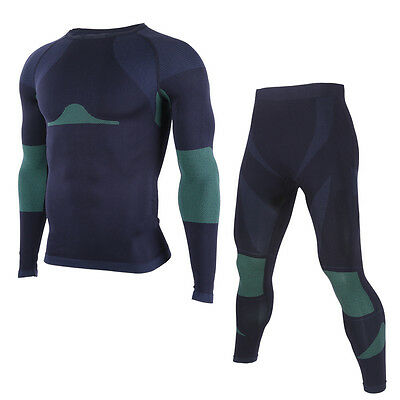 Mens Compression Thermal Under Base Layer Athletic Long Sleeve Shirts and Pants