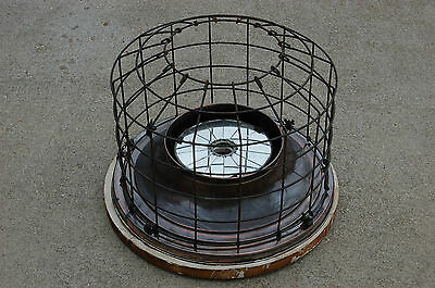 Industrial Antique Flush Mount Cage Light w/ Mirrored Reflector Perfeclite Co.