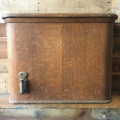 Quarter Sawn Oak Wall Hung Toilet Tank Peerless Evansville Indiana Water Closet