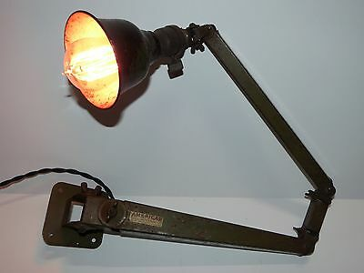 Circa 1920 American Fixture Co Adjustable Task Lamp Wall Sconce Antique