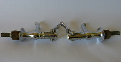 Pair Clow & Sons Broughton Stebbins Self Closing Bathroom Faucets 1898 Patent