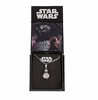 Disney Park Authentic Star Wars Necklace✿BB-8 Droid 3D Molded Stainless Steel