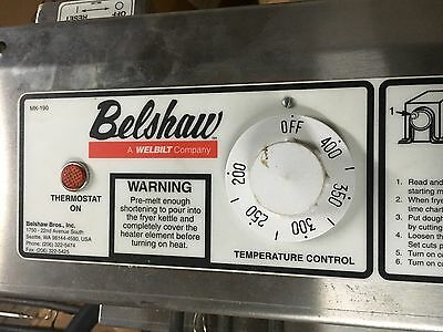 Belshaw Donut Fryer New Heating Element MK VI MODEL Electric frying