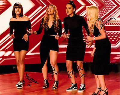 FOUR OF DIAMONDS FULLY SIGNED 10x8 PHOTO - X Factor 2016