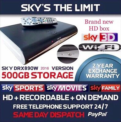 Brand New Sky Plus + HD Wifi Box DRX890W, Built In Wifi