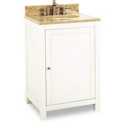 "26"" Traditional Bathroom Vanity with Black Granite Top & Sink, Powder Room, 24"