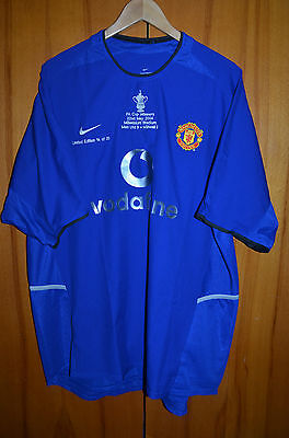 Manchester United Limited Edition Final Cup 2003 Football Shirt Jersey Nike