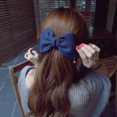 Arrival Big Solid Cloth Bows Hair Clips Hairpins Hair Accessories for Women Girl