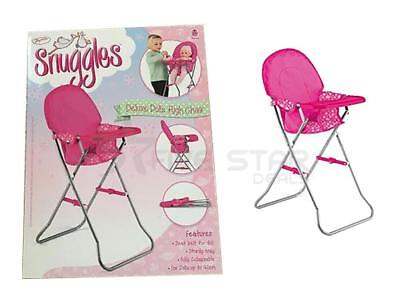 Deluxe Snuggles Dolls Pink Feeding High Chair Feeding Accessory Toy Playset