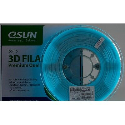 eSun ABS BLAU fluoreszierend Luminous GLOW 1,75mm Filament Makerbot RepRap E3D