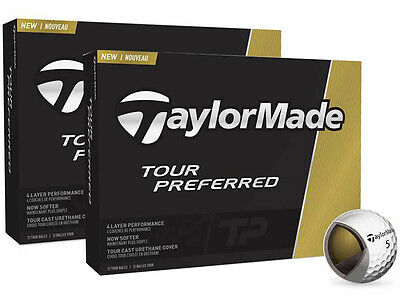 TaylorMade Tour Preferred 2016 2 Dozen Golf Balls White