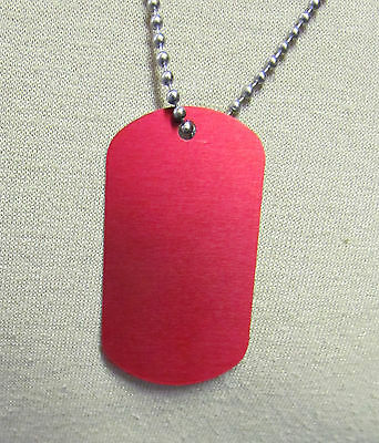 Customized  RED - MEDICAL ALERT Dog Tag with chain
