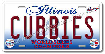 Chicago Illinois Cubs CUBBIES World Series Champions Baseball License Plate