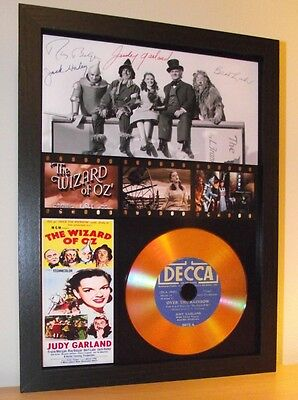 The Wizard Of Oz, Judy Garland, Signed Display And 'over The Rainbow' Gold Disc