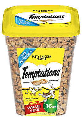 TEMPTATIONS Classic Treats for Cats Tasty Chicken Flavor 16 OZ