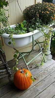 SALE BLACK FRIDAY: Vintage Hungarian Baby Tub w/Stand