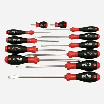 Wiha 30297 12 Piece SoftFinish Slotted and Phillips Screwdriver Set