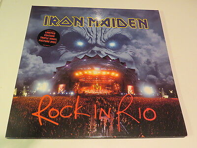 IRON MAIDEN Rock in Rio.. 3-LP-Set.2002.. Picture-Vinyl:mint/ Cover:mint(-)..TOP