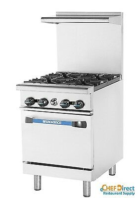 "Turbo Air TAR-4 Radiance  24"" 4 Burner Gas Range With Standard Oven"