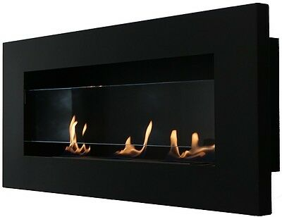 PREMIUM Bio Ethanol Fireplace 'LOOONG SHADOW'  + Openable Glass Front !!  ------