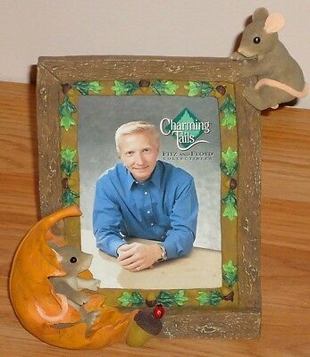 Charming Tails Mice Leaf Acorn Picture Photo Frame NEW! in Box Fitz & Floyd